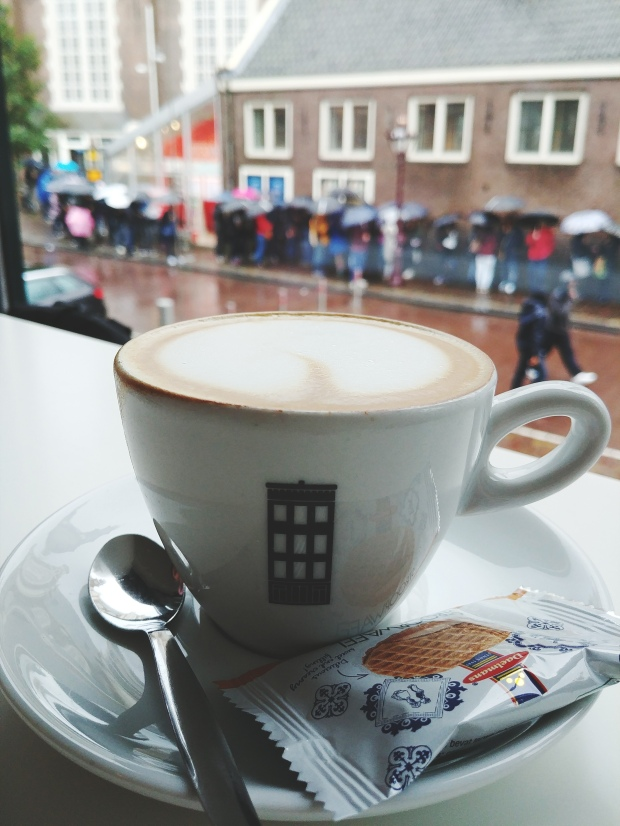 Coffee at Anne Frank's House. byamandalia