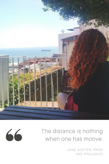 the distance is nothing when one has motive.
